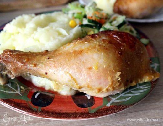 Запеченные куриные голени в горчичном маринаде