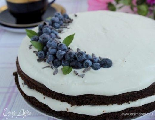 Черемуховый торт с голубикой