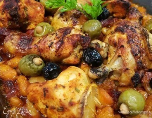 Курица с чоризо и фасолью