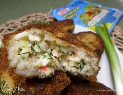 Рыбные зразы с крабовым мясом
