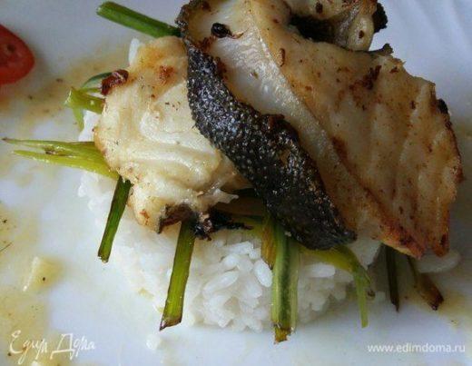 Зубатка с луком-пореем «Морское угощение»