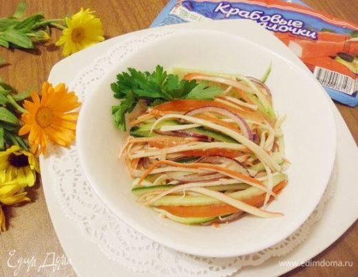 Крабовый салат лайт