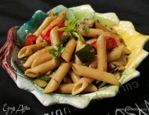 Паста-салат с запеченными овощами