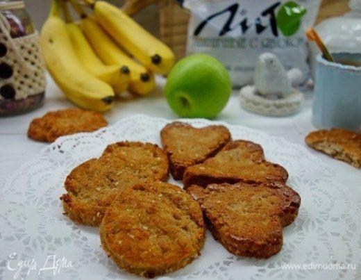 Творожное печенье с отрубями