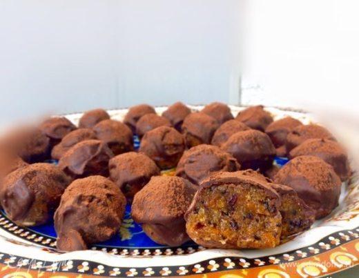 Конфеты с сухофруктами и орехами