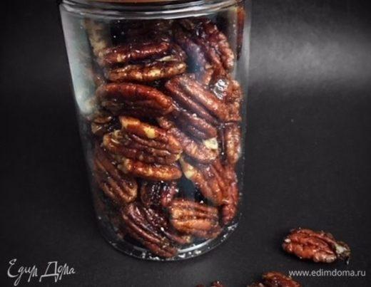 Карамелизированные орехи пекан со специями
