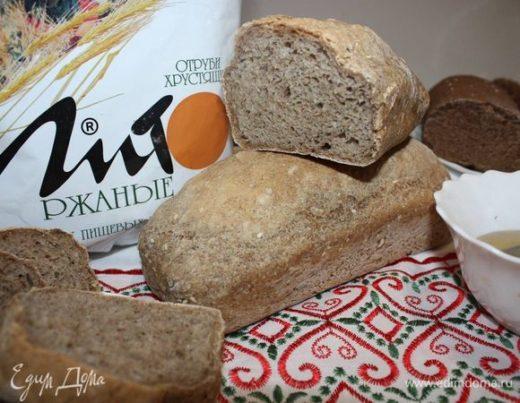 Хлеб домашний с ржаными отрубями и льняной мукой