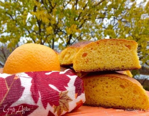 Тыквенные булочки с апельсиновой пропиткой