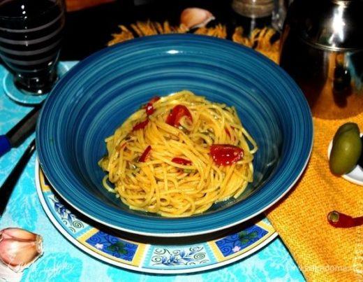 Спагетти «Альо ольо пеперончино»