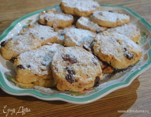 Песочное печенье с фундуком и шоколадом