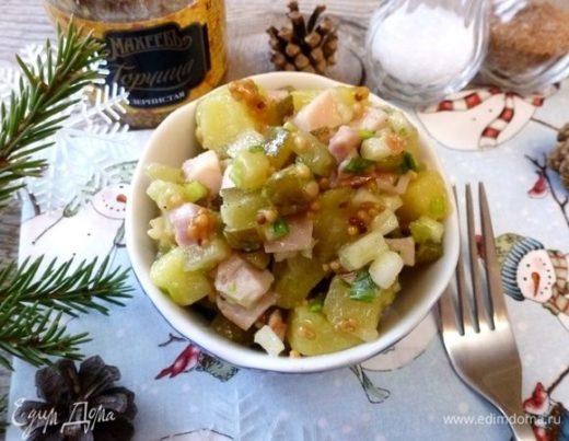 Картофельный салат с копченой курицей