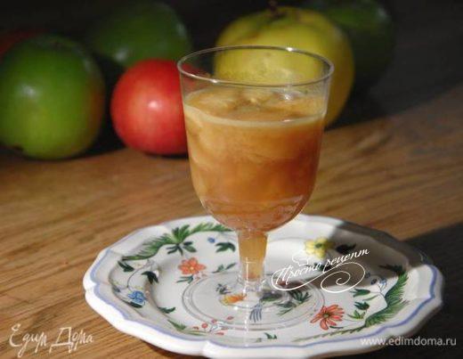 Яблочное желе на кальвадосе