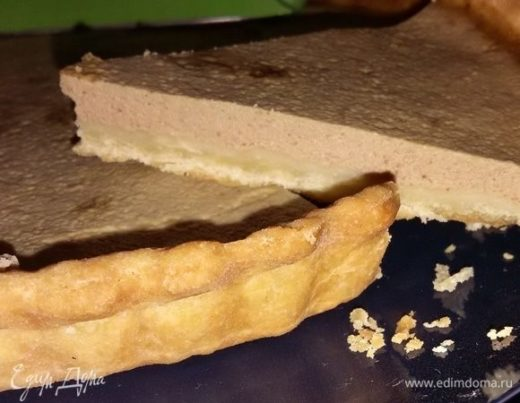 Тарт с куриной печенью