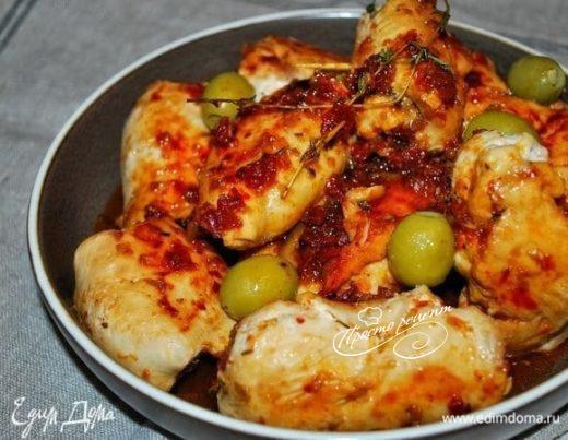 Куриные рулетики с оливковой начинкой