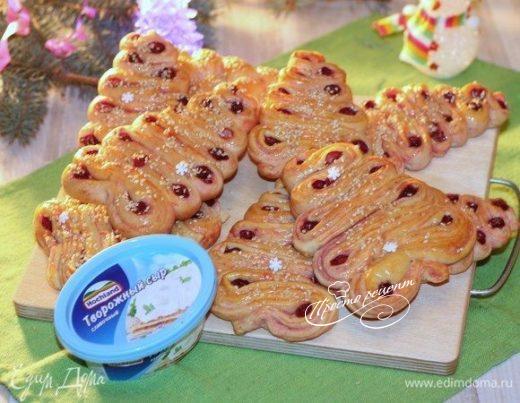 Рождественские булочки-елочки