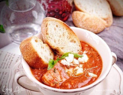 Треска в томатно-винном соусе