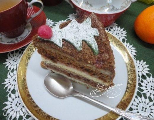 Миндально-шоколадный торт
