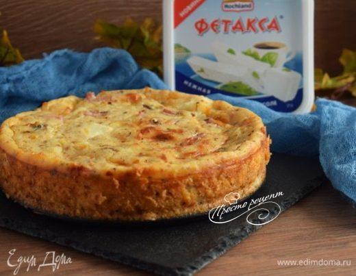 Сырный пирог с ветчиной