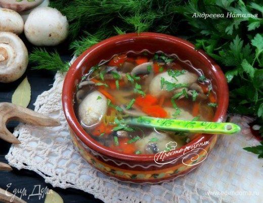 Куриный суп с кнелями