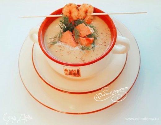 Овощной суп-пюре с тунцом