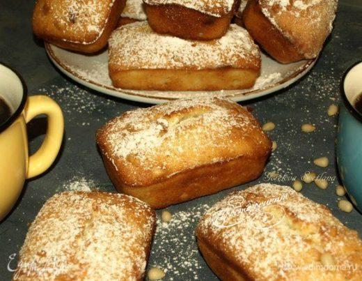 Лимонные кексы с кедровыми орехами