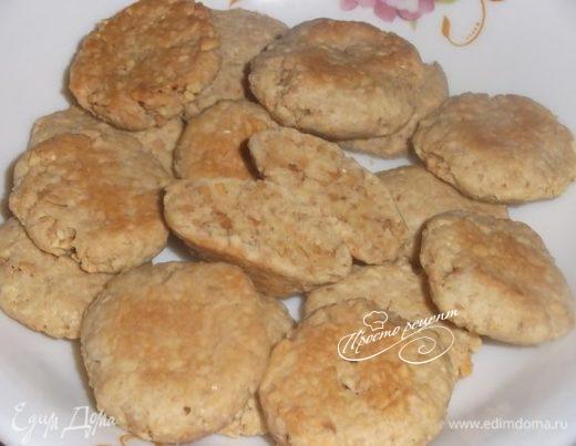 Соленое печенье из арахиса