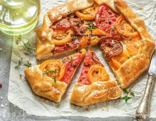 Галета с творожным сыром и томатами