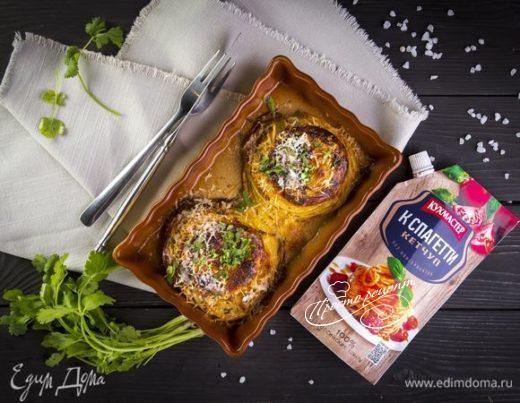 Гнезда из спагетти с томатным соусом