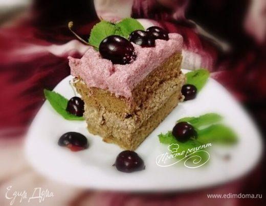 Простой бисквитный торт «Фантазия»