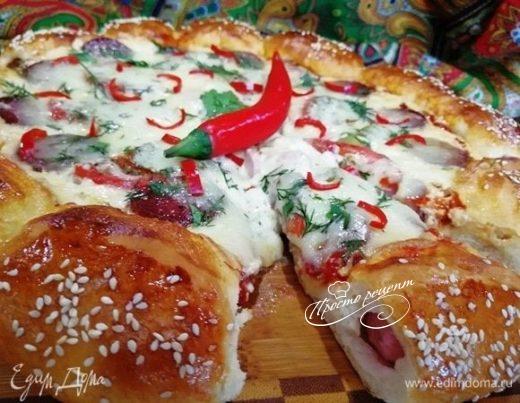 Суперсырная хот-дог-пицца