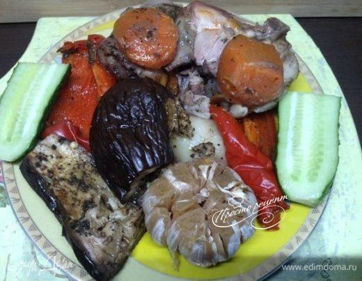 Тушеная с овощами курица «Кур в овощи»