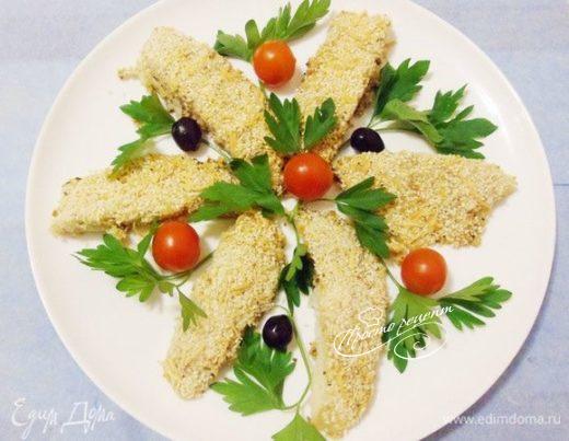 Рыба в горчичной корке