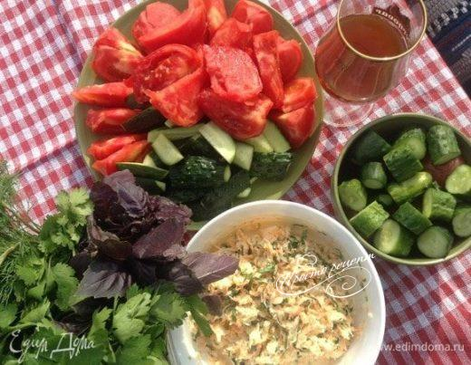 Салат с редькой «Под летние посиделки»
