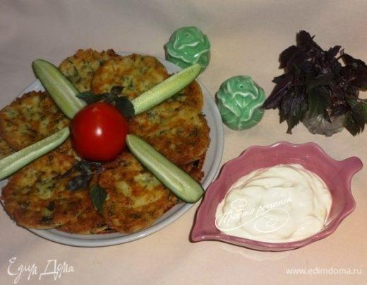 Лепешки из брынзы с зеленью