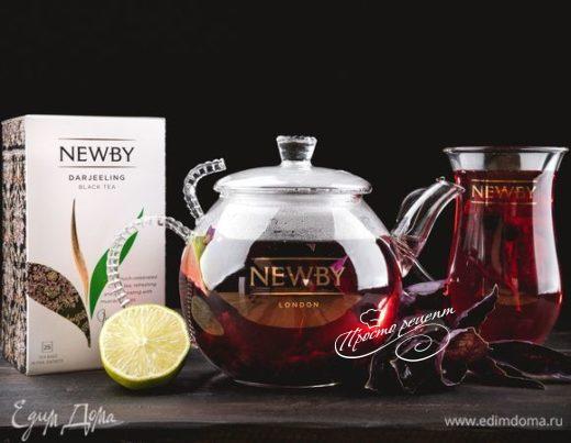 Чай со смородиной и базиликом