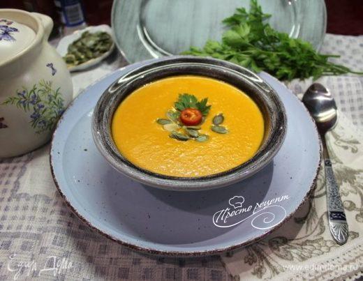 Крем-суп из запеченных перцев