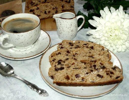 Арахисовый хлеб с сушеной сливой и шоколадом