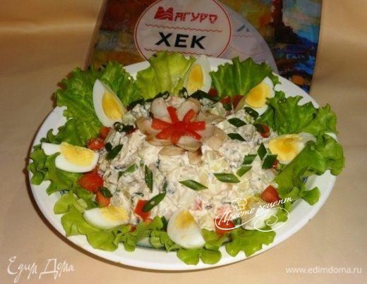 Салат с рыбой и картофелем