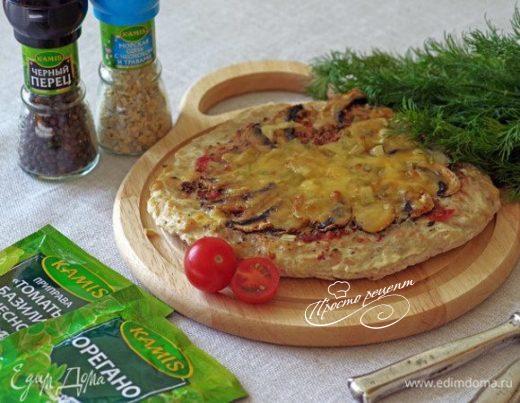 Куриная лепешка с начинкой «Пицца ЗОЖ»