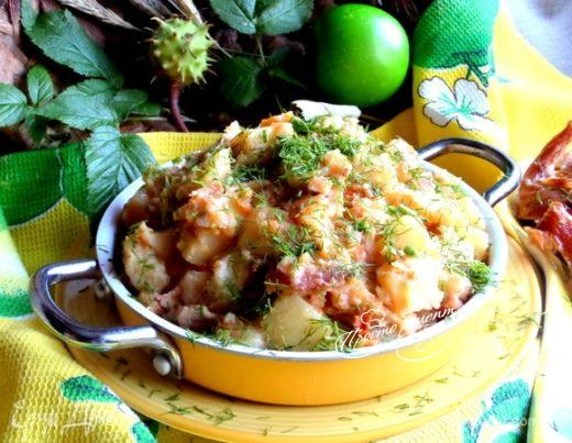 Картофель с беконом