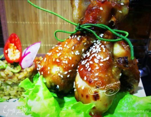Курица с рисом по-азиатски
