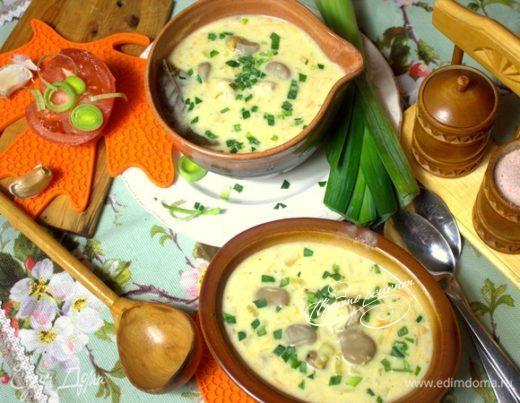 Cырный суп с фрикадельками
