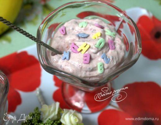 Моментальный десерт с малиной и чиа