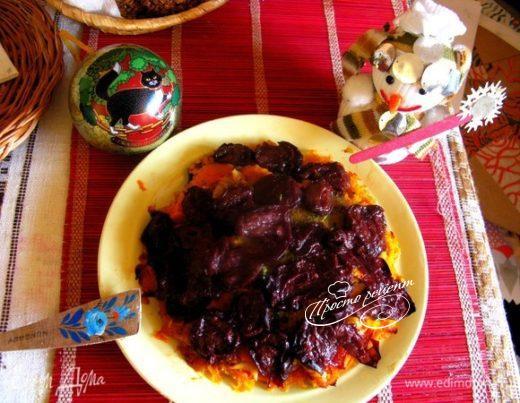 Тыквенная запеканка из пасты с овощами и вяленой сливой