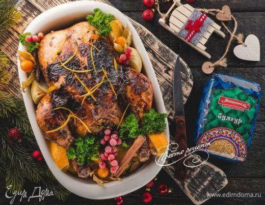 Фаршированная курица с сухофруктами
