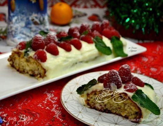 Малиновый кекс