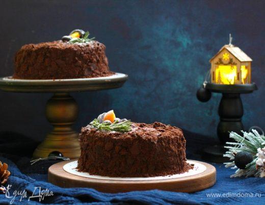 Шоколадный «Наполеон» с кофейно-шоколадным сырным кремом