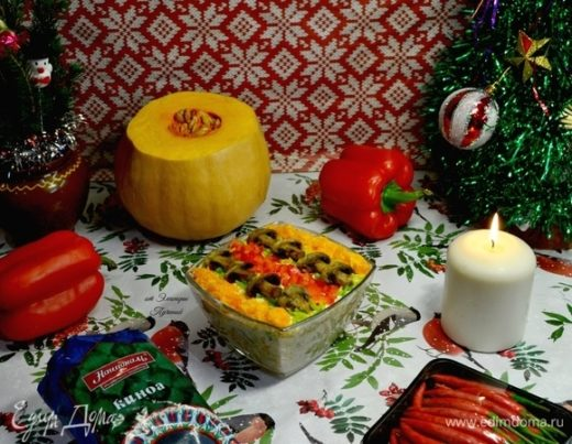 Салат полезный «Новогодний»