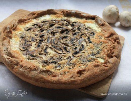Ржаной пирог с курицей и грибами