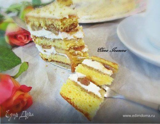 Торт «Карамельные яблочки»